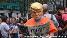 USA I Proteste gegen Trump in New York