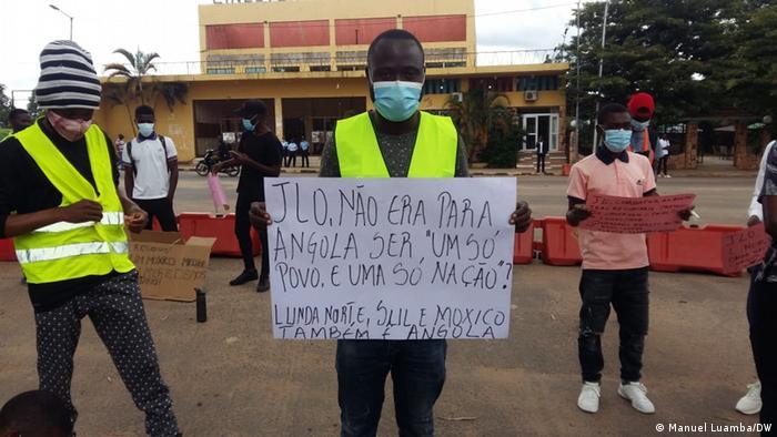 Protesto em Angola