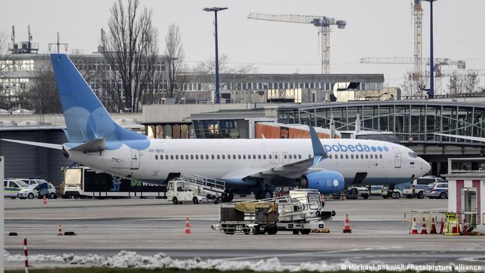 На этом самолете авиакомпании Победа Алексей Навальный вылетел в воскресенье из Берлина в Москву
