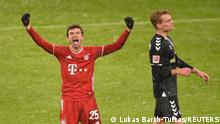 Thomas Müller celebrates a goal