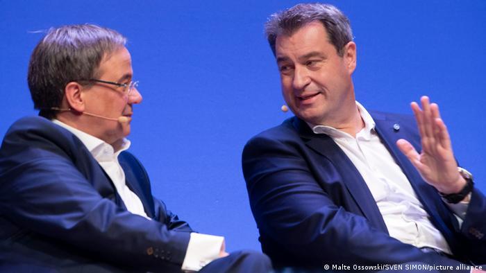Deutschland Münster 2019 |Markus Söder, MP Bayern & Armin Laschet, MP Nordrhein-Westfalen