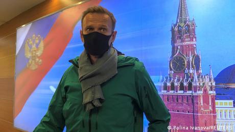 Alexei Navalîi, Moscova, pe aeroprotul Şeremetievo