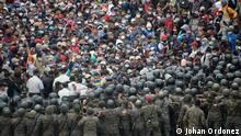 Guatemala | Vado Hondo | Zusammenstoß Polizei und Migranten aus Honduras