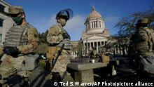 USA | Washington | US-Kapitol vor der Amtseinführung des gewählten US-Präsidenten Joe Biden
