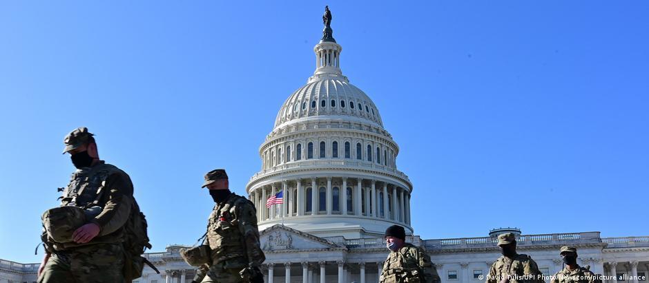 USA   Washington   US-Kapitol vor der Amtseinführung des gewählten US-Präsidenten Joe Biden