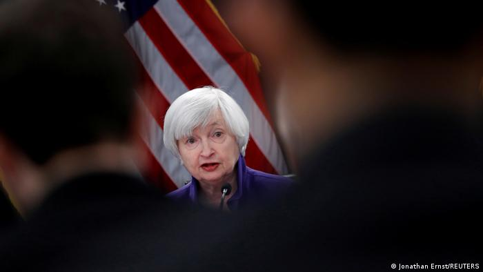 U.S. outgoing Federal Reserve Chair Janet Yellen holds a news conference after a two-day Federal Open Market Committee (FOMC) meeting in Washington, U.S. December 13, 2017.