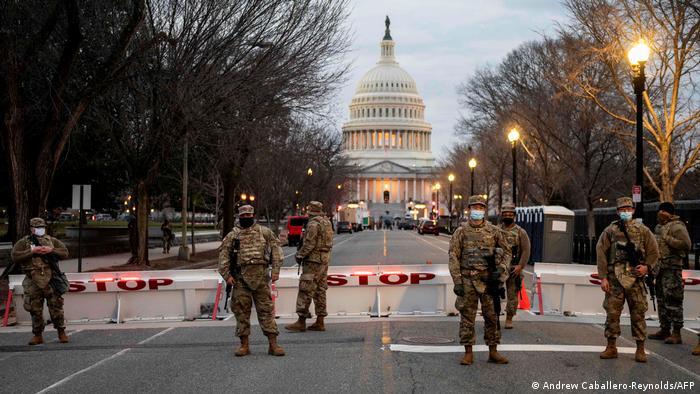Przygotowania do uroczystości zaprzysiężenia Joe Bidena na prezydenta USA