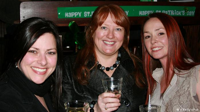 Brenda O'Reilly and two other women at O'Reilly's Pub in St. John's