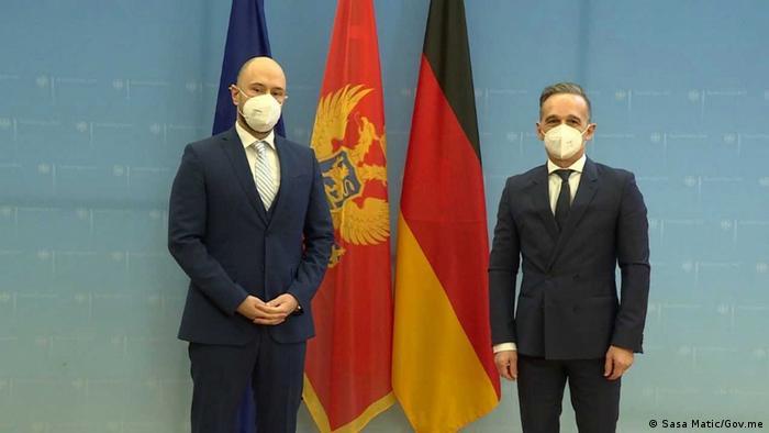 Minstar spoljnih poslova Crne Gore Đorđe Radulović tokom susreta sa nemačkim kolegom Haikom Masom u januaru u Berlinu