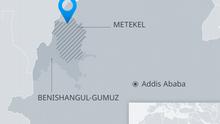Karte Äthiopien Metekel EN