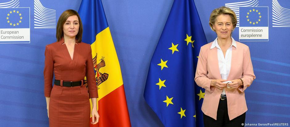 Maia Sandu și Ursula von der Leyen la Bruxelles