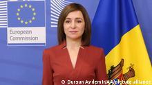 Belgien Brüssel Präsident Moldavien Maia Sandu EU Kommission Präsident Ursula von der Leyen