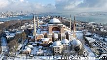 Türkei Istanbul Schnee Landschaft