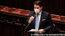 Italien Premierminister Giuseppe Conte im Parlament
