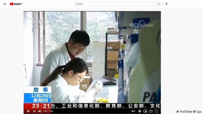 Standbild aus einer CCTV Dokumentation von 2017 über die Suche nach dem Ursprung von SARS