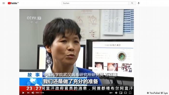 Standbild aus einer CCTV Dokumentation von 2017 | Corona Wuhan | Fledermausexpertin Shi Zhengli