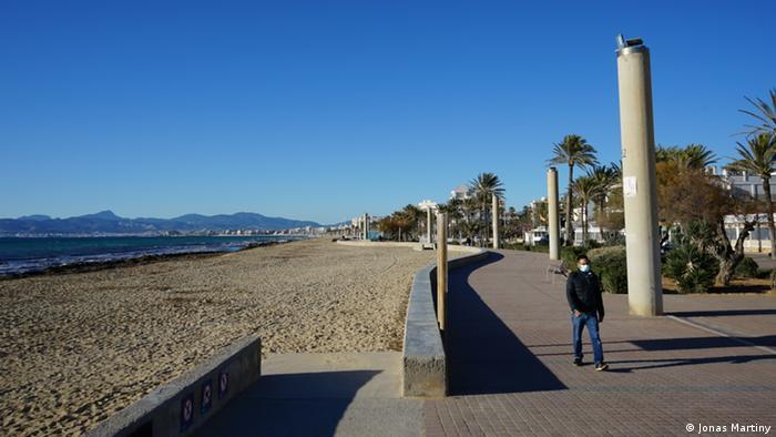 Spain | A deserted Playa de Palma beach on Mallorca