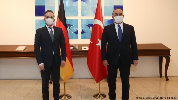 Bundesaußenminister Heiko Maas und sein türkischer Amtskollege Mevlüt Cavusoglu in Ankara