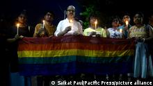 LGBT rights activists hold a vigil in Dhaka