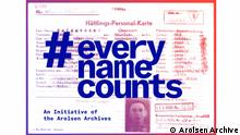 Pressebilder #everynamecounts Arolsen Archive |