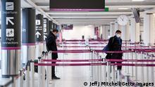 UK Corona-Pandemie | Flughafen Edinburgh
