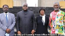 ***ACHTUNG: Bild nur zur abgesprochenen Berichterstattung verwenden!*** via Eric Topona Zeremonie zum 60. Jahrestag der Ermordung von Patrice Lumumba. Rechte: Giscard Kusema/ Press Office President of DRC