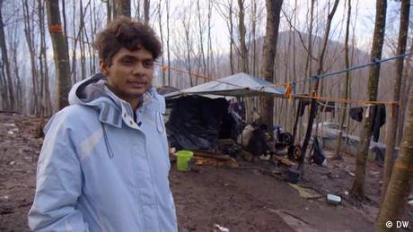 Raheel Zafar, a young Pakistani, is one of thousands of migrants living in catastrophic conditions in Bosnia