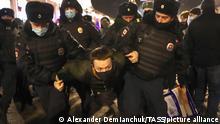 Russland St. Petersburg | Verhaftung bei Protest für Alexej Nawalny