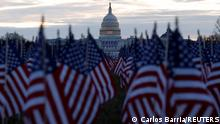 USA | Washington | Biden Einweihung | Denkmal für COVID-19-Opfer