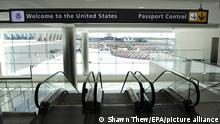 Passport control at Washington Dulles International Airport