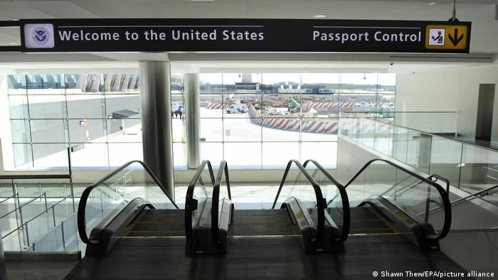 Passport control at Washington Dulles International Airport