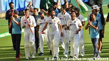 Australien Indische Cricket-Mannschaft feiert Sieg über Australien