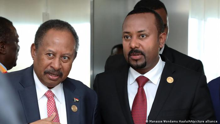 Prime Minister of Sudan Abdalla Hamdok and Prime Minister of Ethiopia Abiy Ahmed