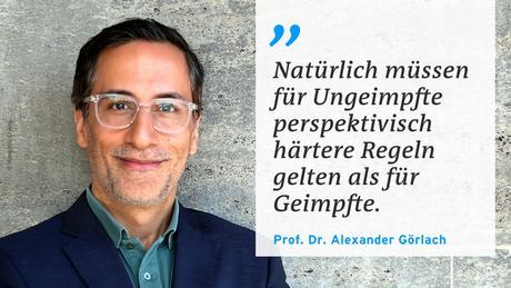 Zitatafel Pro. Dr. Görlach Corona-Regeln