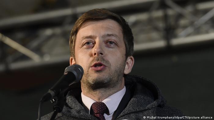 Predsednik stranke STAN Vit Rakušan na demonstracijama u Pragu 17. septembra 2019.