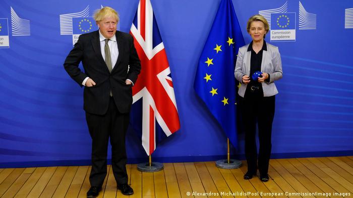 Ursula von der Leyen (r.) and Boris Johnson in Brussels