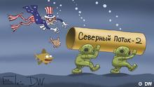 США пытаются остановить прокладку трубы Северного потока - 2 - карикатура Сергея Елкина