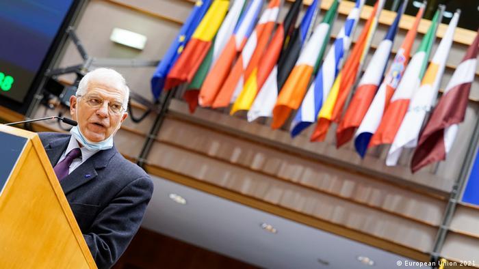Глава дипломатии ЕС Жозеп Боррель в Европарламенте
