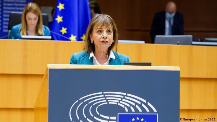 Maria Manuel Leitao, eurodiputada portuguesa, en debate sobre América Latina, Bruselas, 19.01.2021.