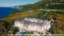 A drone view of an estate on Russia's Black Sea, which Navalny's team has said belongs to President Vladimir Putin