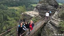Penulis bersama kawan-kawan di Taman Nasional Sächsische Schweiz