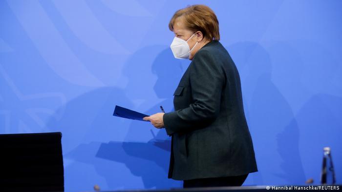 Angela Merkel with mask
