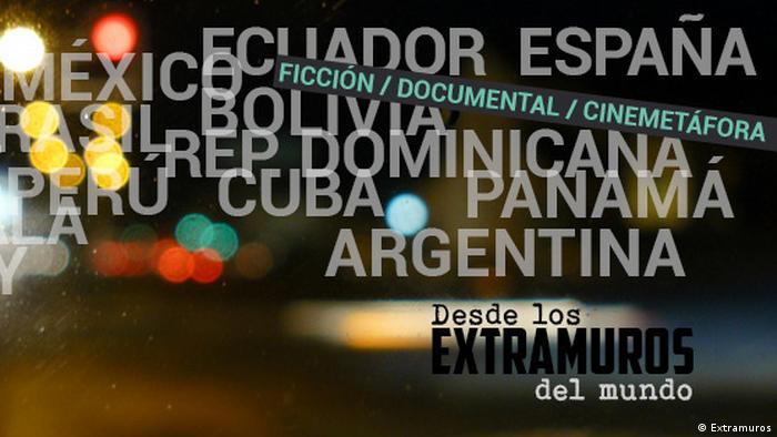 """Afiche Festival Internacional de Cine Independiente """"Desde los EXTRAMUROS del Mundo""""."""