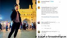 Screenshot I Instagram I Munawar Faruqui