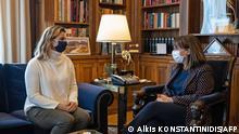 #Meetoo-Debatte Griechenland | Sportlerin Sofia Bekatorou und Präsidentin Katerina Sakellaropoulou