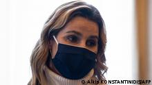 Sofia Bekatorou, 43 Jahre alt, Seglerin, Olympiasiegerin 2004 und 2008, vierfache Weltmeisterin und zweifache Weltseglerin des Jahres, hier bei ihrem Besuch bei Griechenlands Staatspräsidentin Katerina Sakellaropoulou in Athen am 18.01.2021
