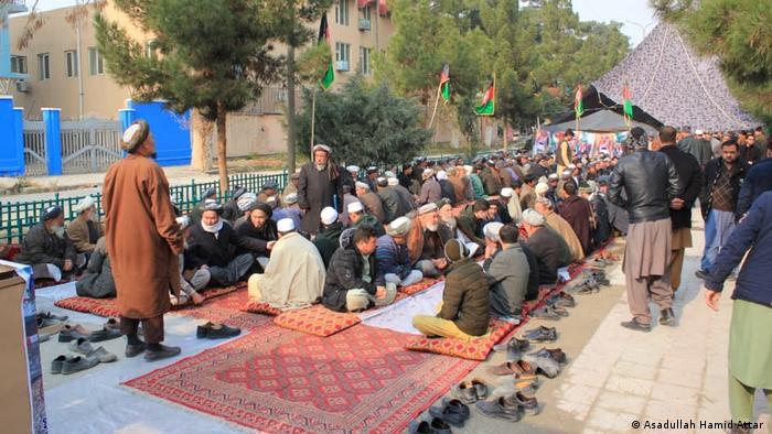 Afghanistan Masar-e Scharif | Demonstranten fordern Freilassung eines entführten 9-Jährigen