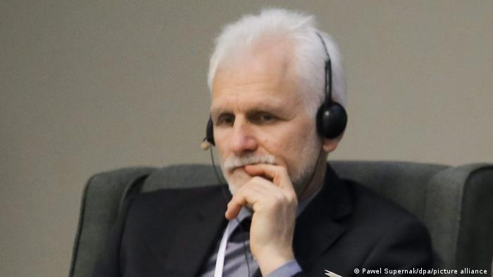 Ales Bialatski at the 2015 Warsaw Dialogue for Democracy