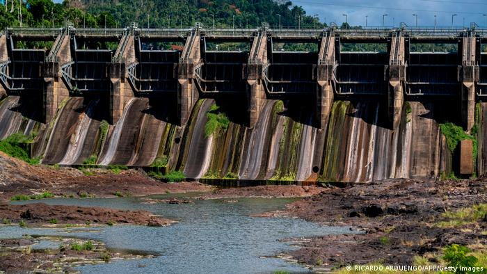 The Carraizo dam in Puerto Rico in 2020 show the impact of drought.