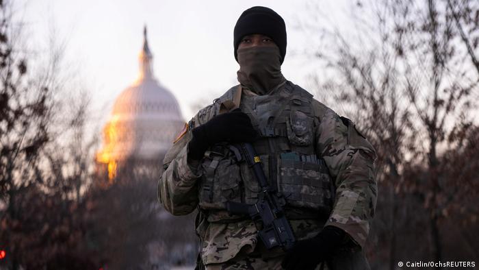 USA Washington |Tag der Inauguration von Joe Biden, 46. Präsident |Nationalgarde